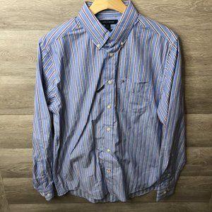 Tommy Hilfiger Small Blue Stripe Button Down Shirt